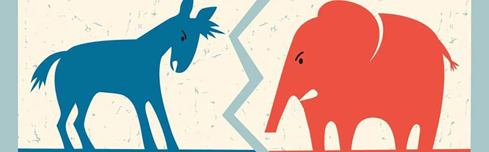 Elephant Donkey Republican Democrat Politics