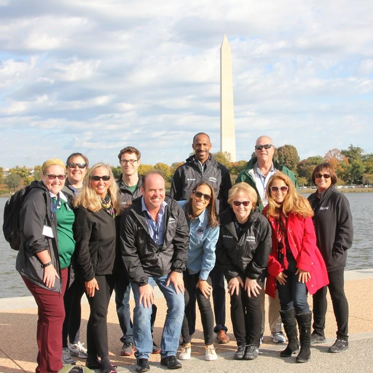 Teachers in DC Tidal basin