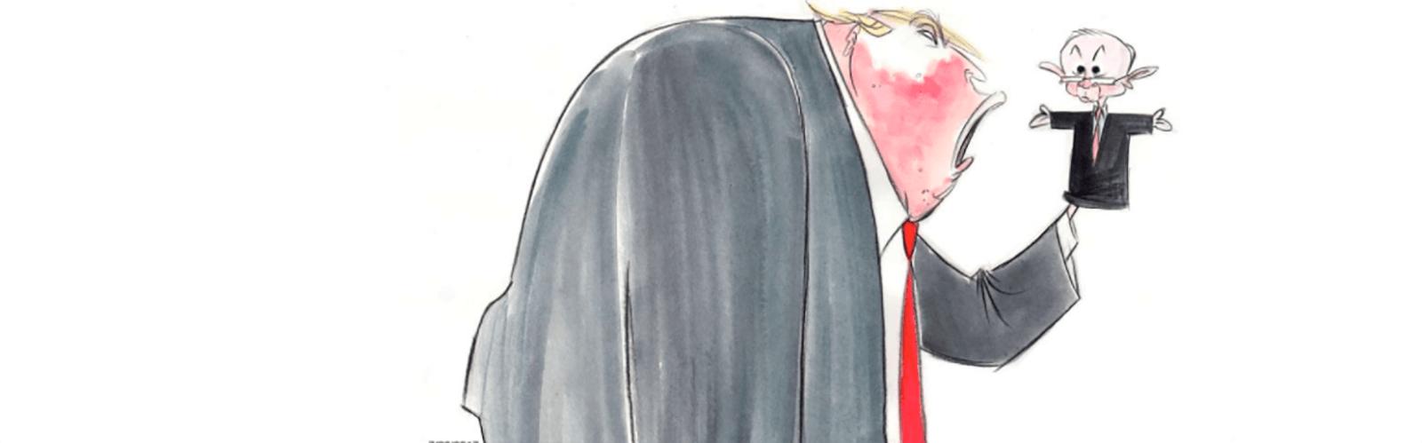 Political Cartoon Donald Trump